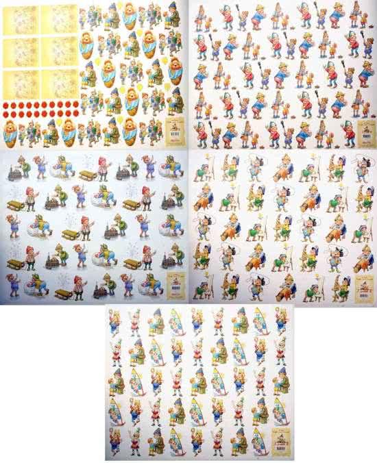 5 Super Grote 3D Knipvellen -50x70 - Laaf (Efteling) - Om prachtige kaarten of ander creatief project te maken