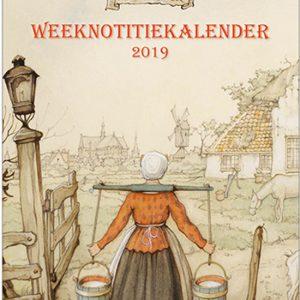 Anton Pieck - Week notitiekalender 2019 - 'Melkmeisje'