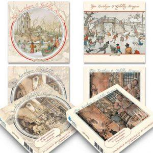 Set van 20 luxe Anton Pieck-kerstkaarten (set 3)