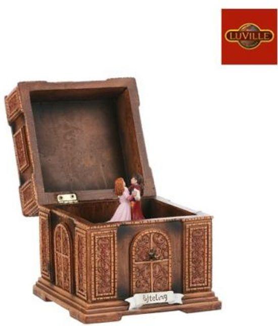 efteling miniaturen luville Muziekdoos Assepoester - l11,5xb11,5xh12cm