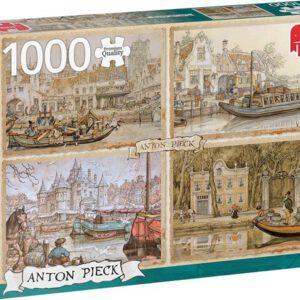 Anton Pieck Canal Boats - Legpuzzel - 1000 stukjes