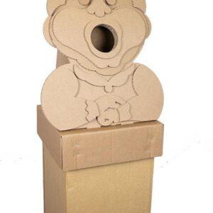 KarTent - Kartonnen Efteling Prullenbak - Holle Bolle Gijs - Holle Bolle Gijs 60L - Duurzaam Karton