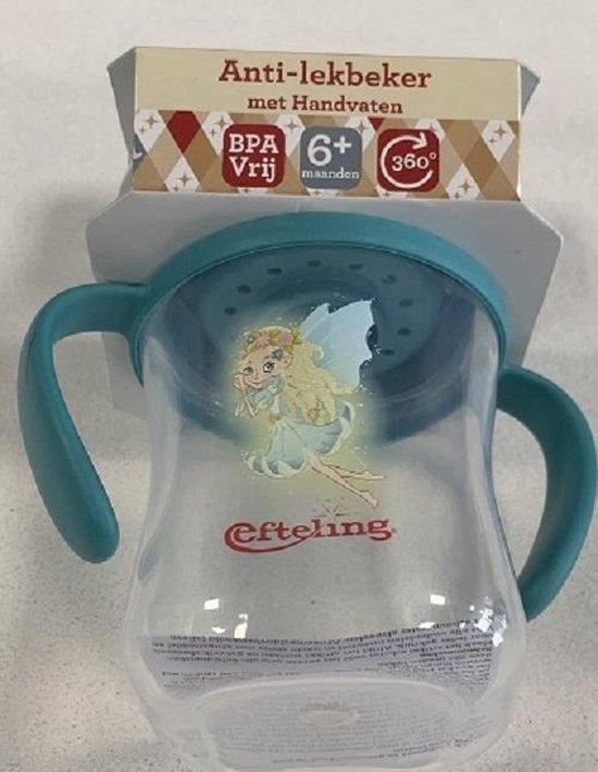 Efteling - Anti Lekbeker met handvaten - BPA Vrij - 6+ Maanden - Droomvlucht-elfjes - 360 graden - turkoois