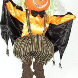 Vogelverschrikker pompoen 100 cm met licht en beweging - feestdecoratievoorwerp - Halloween
