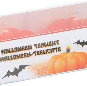 Arti Casa Kaars Halloween Pompoen 5 X 2,5 Cm Oranje 2 Stuks