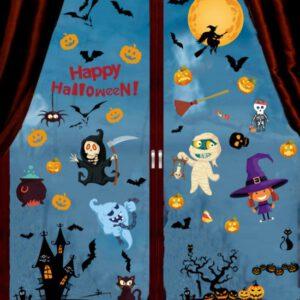 Halloween raam & deur decoratie - versiering - halloween stickers - PVC - 6 Vellen herbruikbaar!