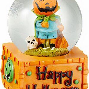 Verhaak Sneeuwbol Halloween 5 Cm Polyresin Oranje